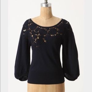 Knitted & Knotted Navy Sweater